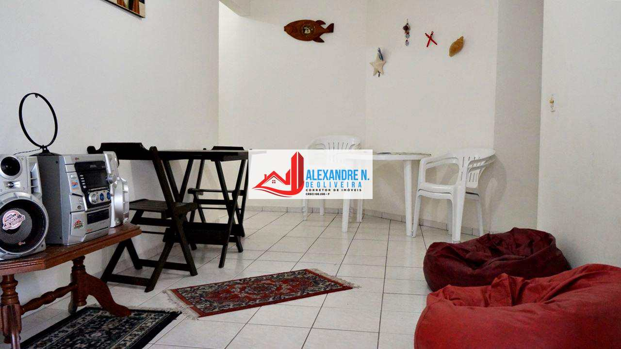 Apto 1 dorm, sacada, Ocian, Praia Grande, R$ 180 mil, AP00240