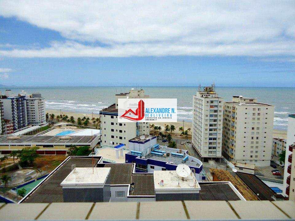 Vista-mar, 2 dorms, Ocian, Praia Grande, R$ 370 mil, AP00201