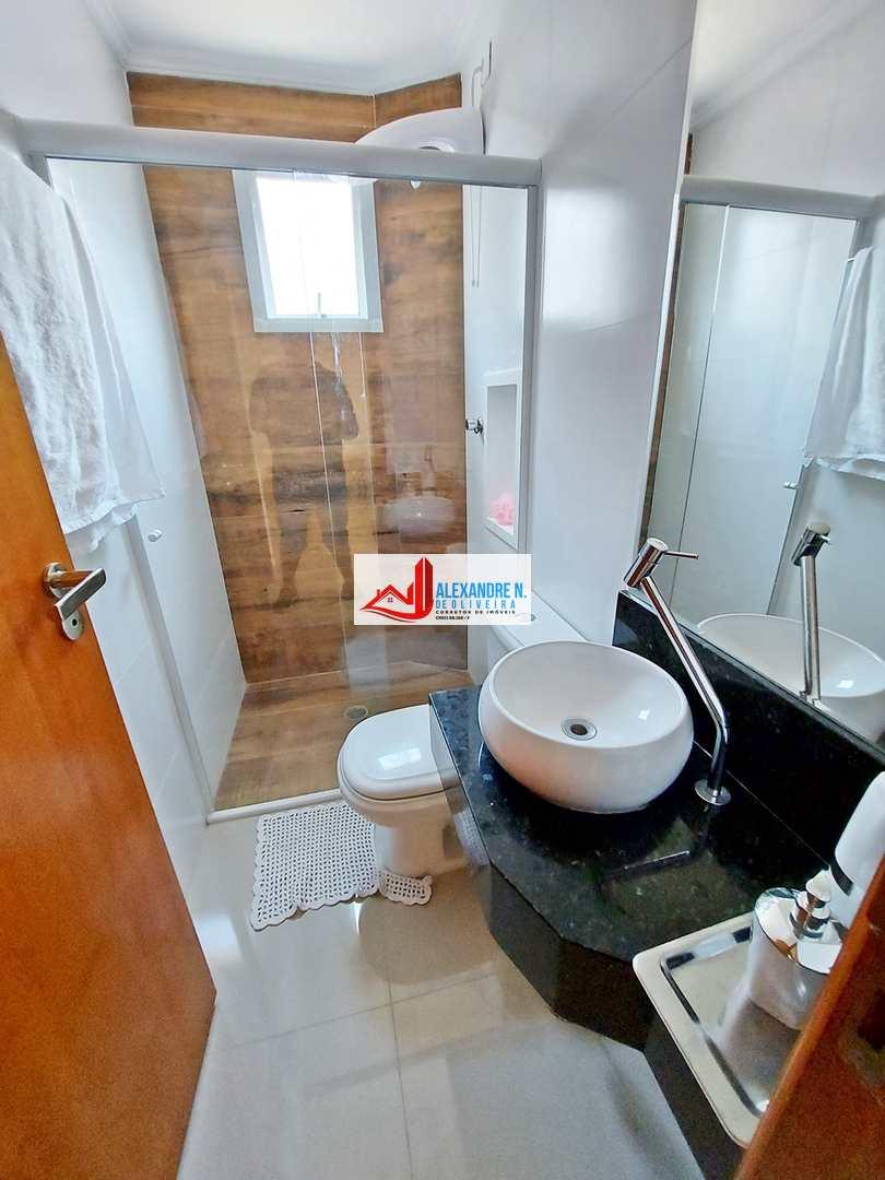 Vista mar, 2 dorms, Ocian, Praia Grande, R$ 400 mil, AP00157