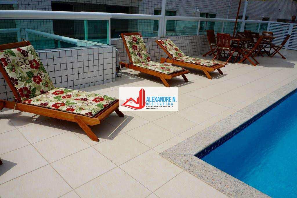Vista-mar, 2 dorms, Ocian, Praia Grande, R$ 380 mil, AP00157