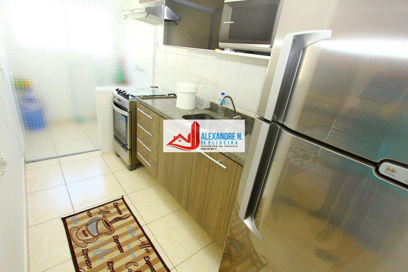 Apartamento 1 dorm, Ocian, Praia Grande - R$ 195 mil, AP00424