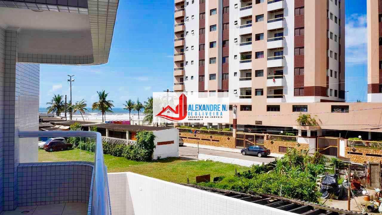 Vista mar, 2 dorms, Praia Grande, Entr. R$ 71 mil, AP00508.
