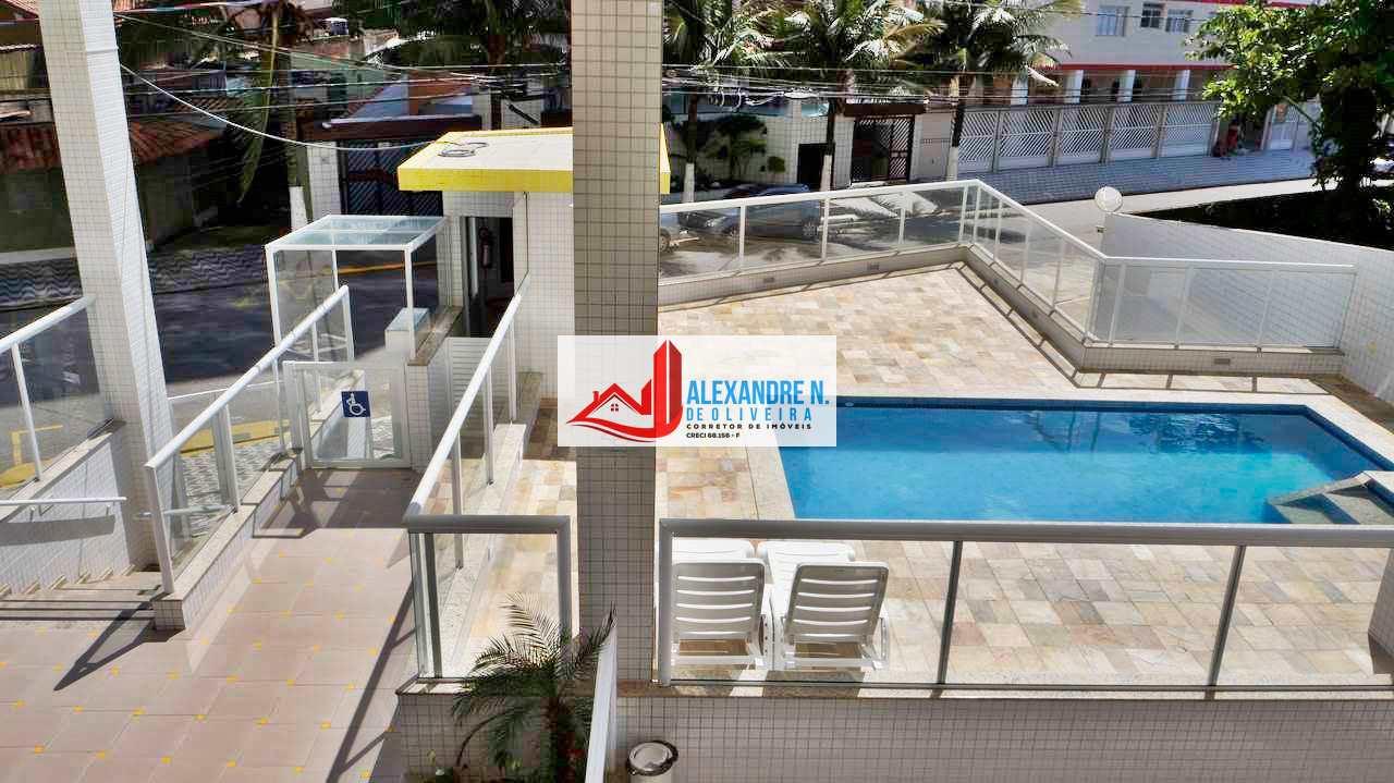 Vista-mar, 2 dorms, Mirim Praia Grande, Entr. R$ 71 mil AP00509