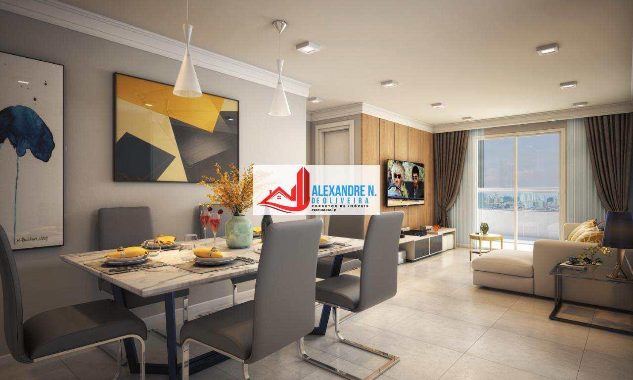 Apartamento 2 dorms, Caiçara, Praia Grande, R$ 479 mil, AP00513