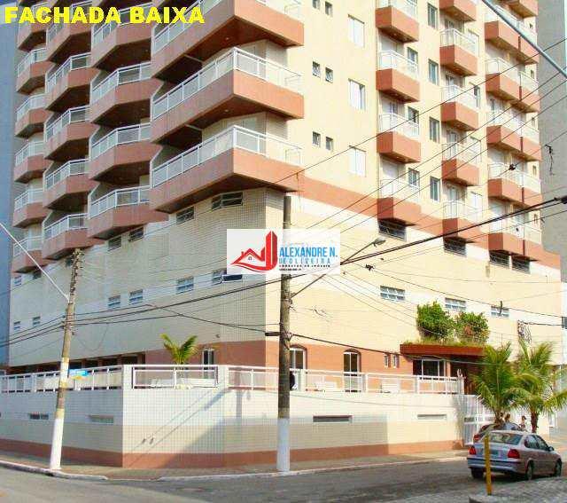 Frente ao mar, 3 dorms, 2 vagas, Ocian, R$ 500 mil, AP00383
