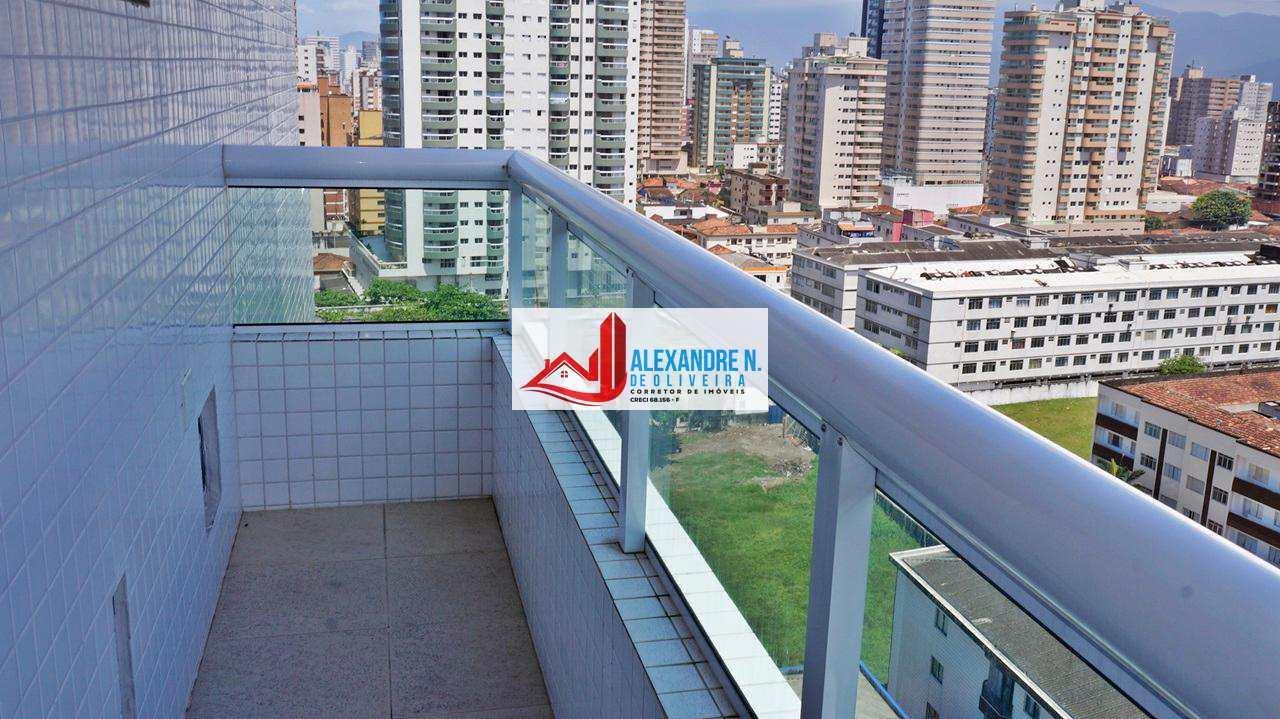 Vista-mar, 3 dorms, Praia Grande, Entr. R$ 140 mil, AP00098