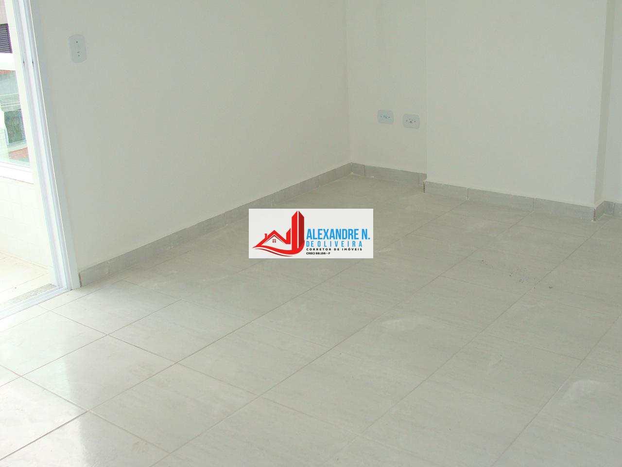 Apto 2 dorms, Ocian, Praia Grande, Entr. R$ 90 mi, AP00522