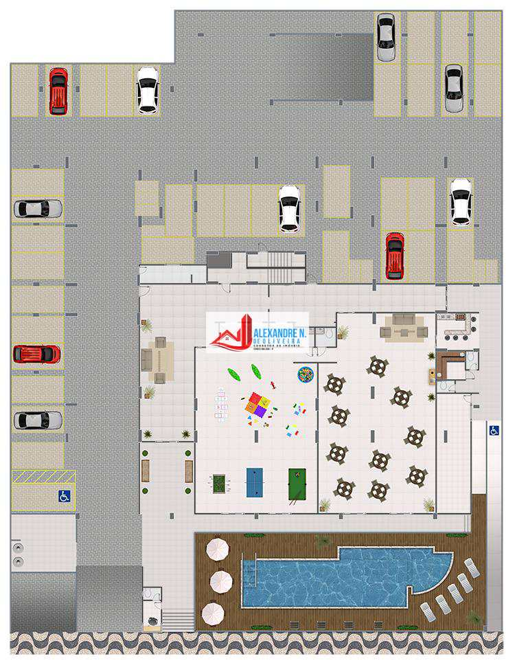 Apto 2 dorms, Caiçara, Praia Grande, Entr. R$ 40 mil, AP00529