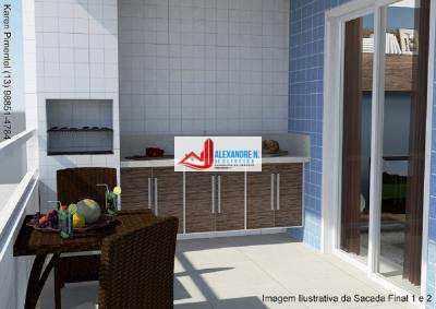 Apto 1 dorm, Caiçara, Praia Grande, Entr. R$ 19 mil, AP00533