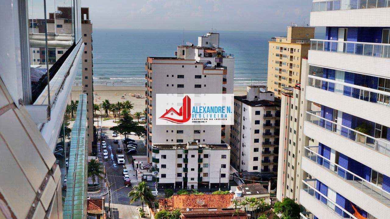 Vista mar, 3 dorms, Aviação, Praia Grande, R$ 519 mil, AP00183