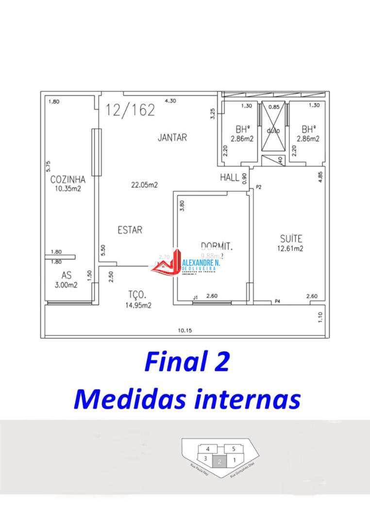 PLANTA DO FINAL 2 - MEDIDAS
