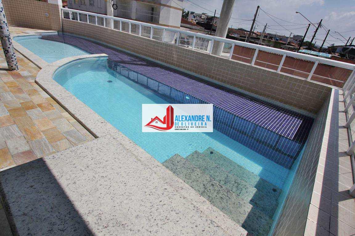 Apto 2 dorms, sacada gourmet, Praia Grande, R$ 260 mil, AP00550