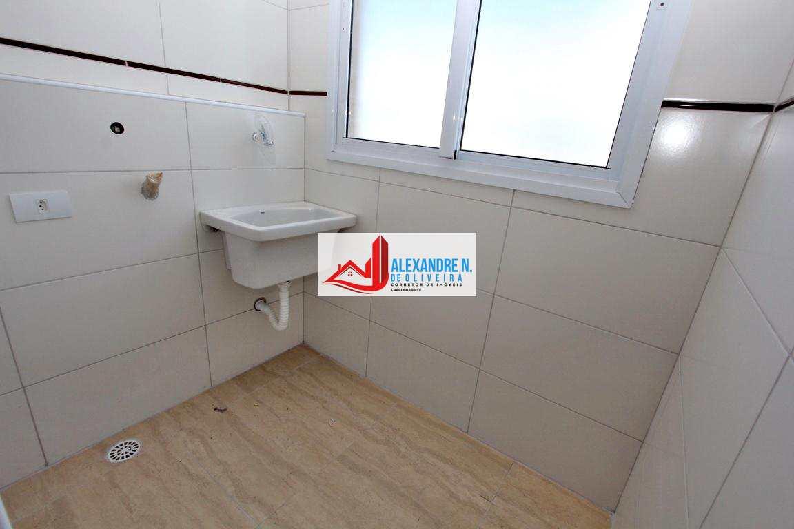 Apto 2 dorms, sacada gourmet, Praia Grande, R$ 319 mil, AP00551