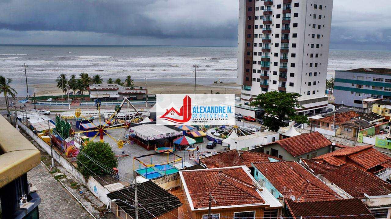 Vista ao mar, 2 dorms, Ocian, Praia Grande, R$ 230 mil, AP00587