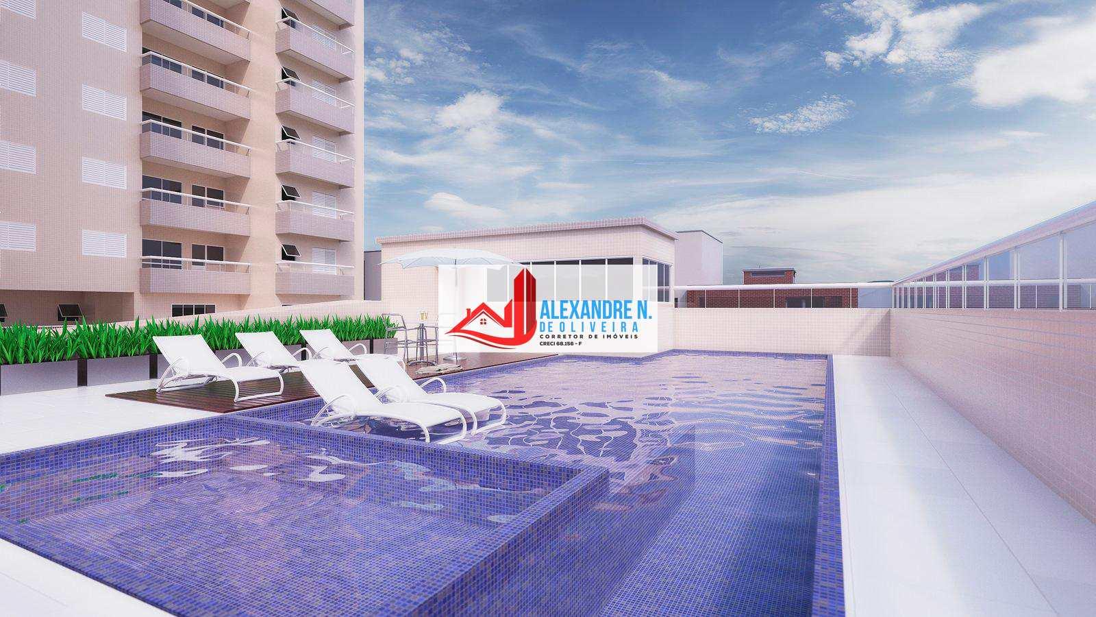 Apartamento com 2 dorms, Ocian, Praia Grande - R$ 324 mil, Cod: AP00592