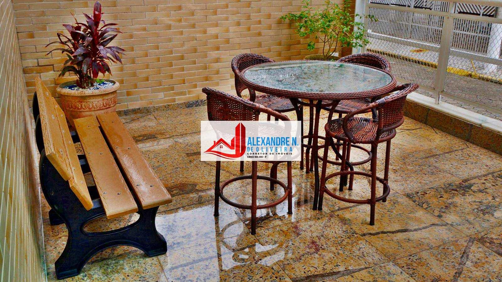 Apartamento 1 dorm, Ocian, Praia Grande - R$ 185 mil, AP00596