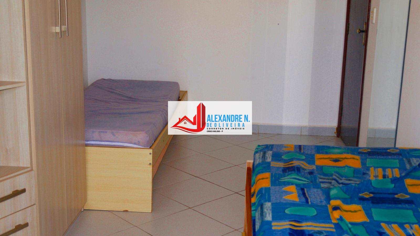 Apto 1 dorm, completo, Ocian, Praia Grande, R$ 160 mil, AP00600