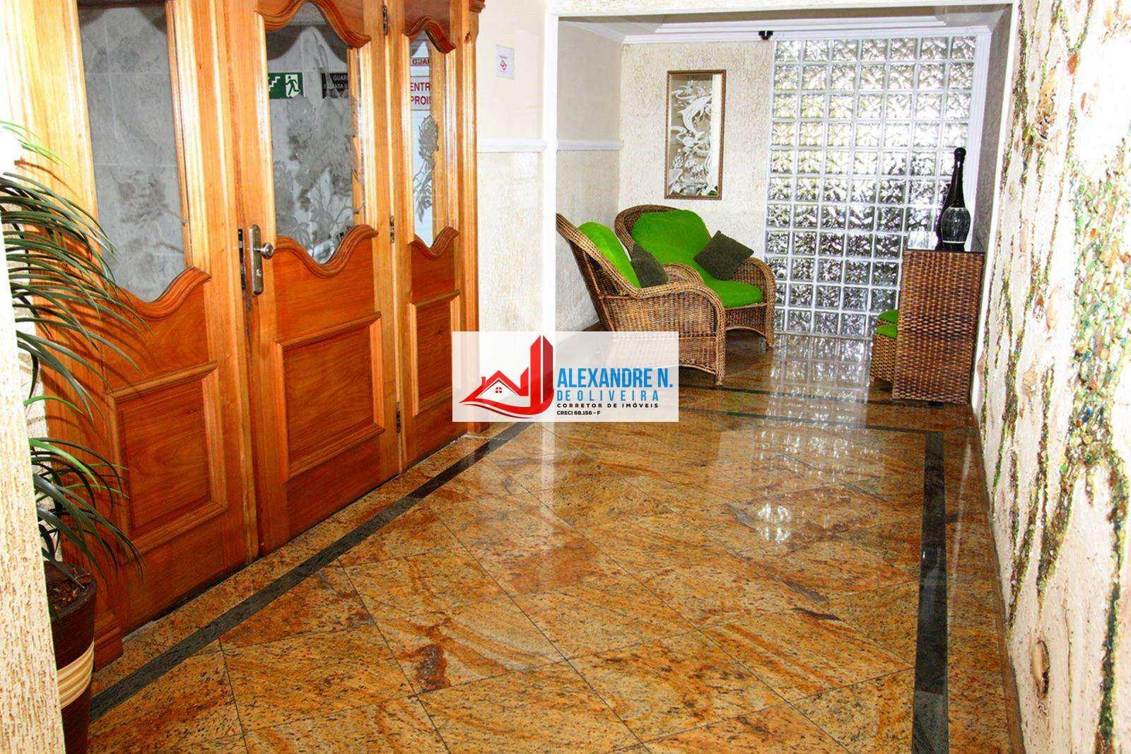 Vista ao mar 2 dorms, Ocian, Praia Grande - R$ 210 mil, AP00606