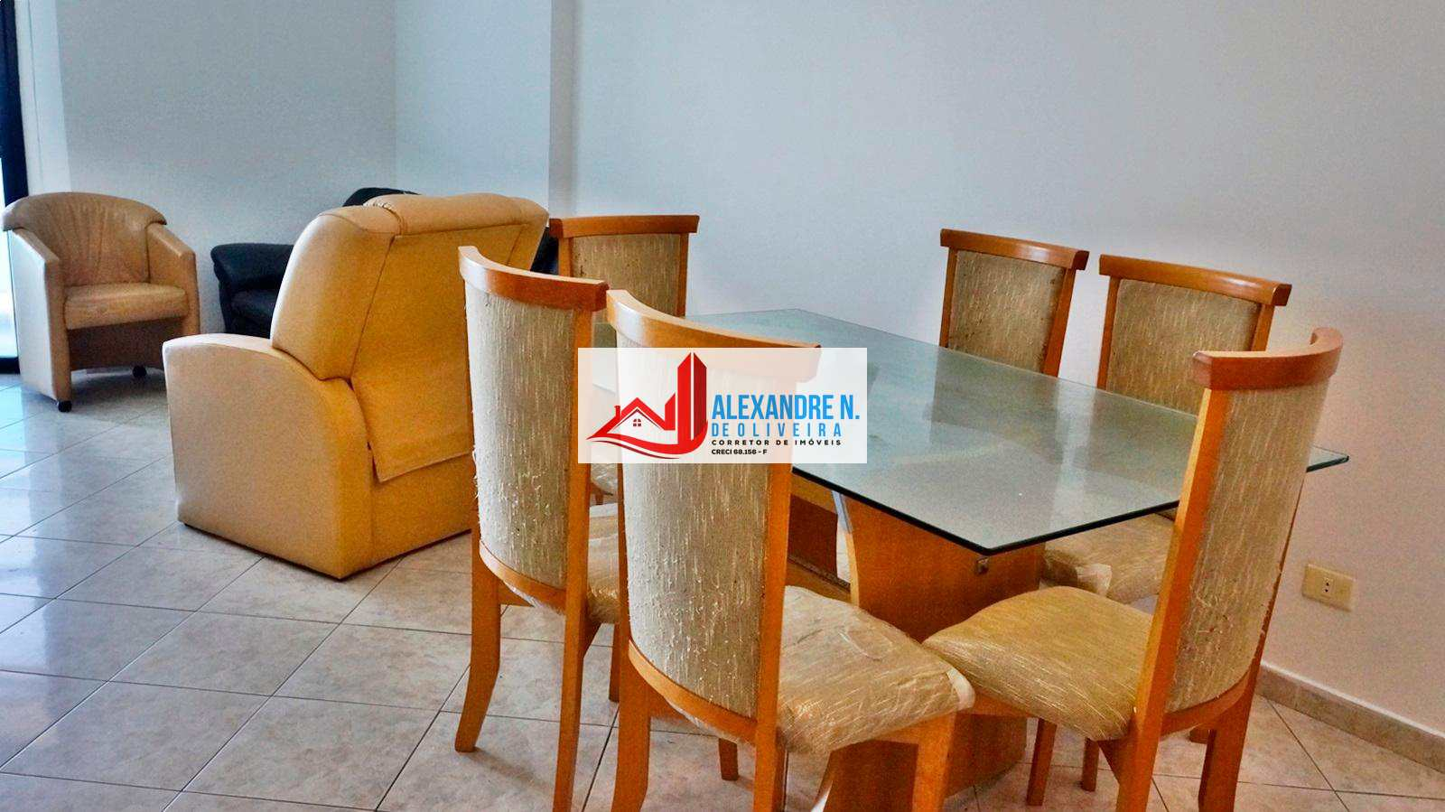 Frente ao mar, 2 dorms, Tupi, Praia Grande, R$ 330 mil, AP00607