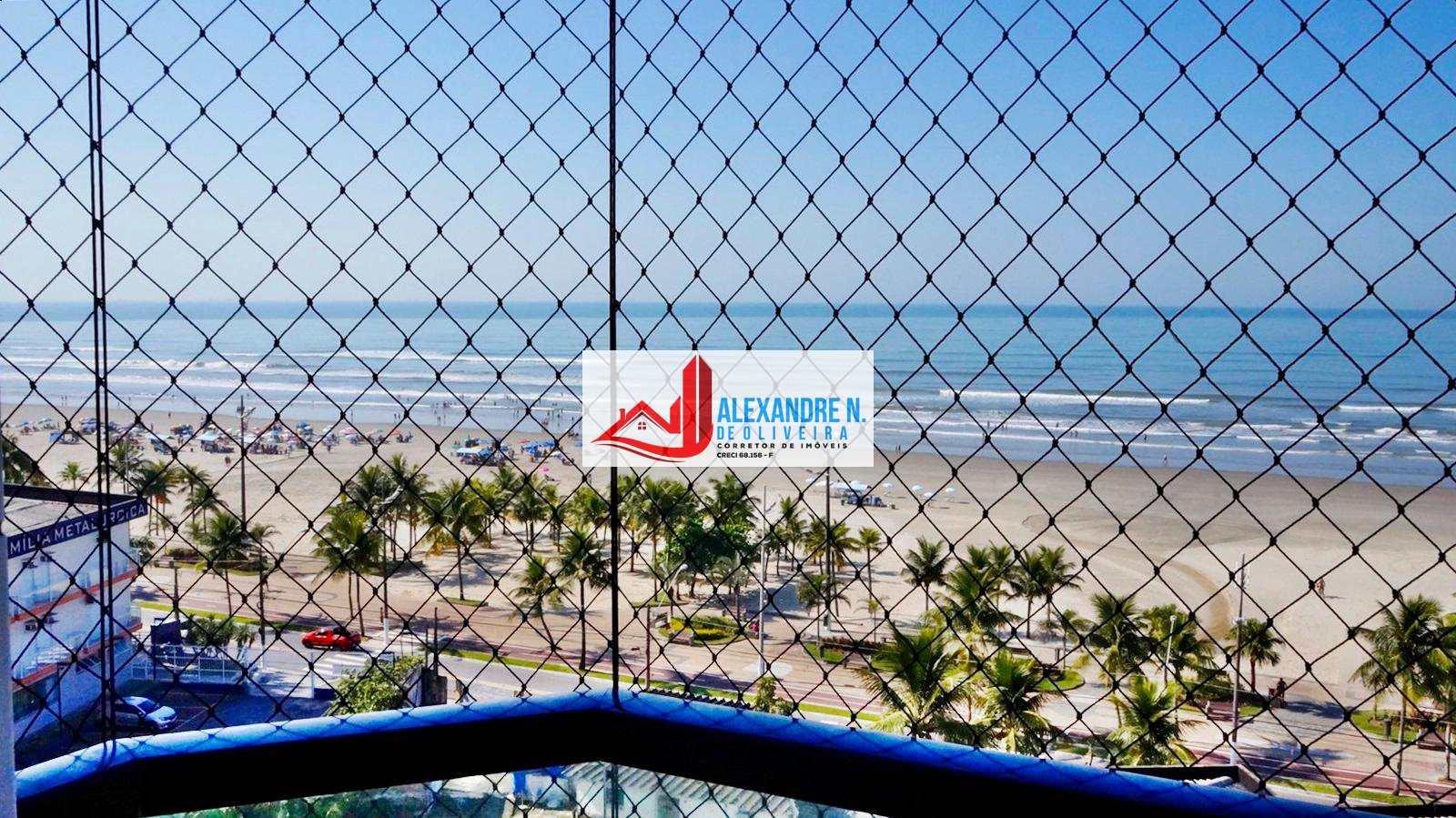 Vista ao mar, 1 dorm, 2 sacadas, Mirim, Praia Grande, AP00609