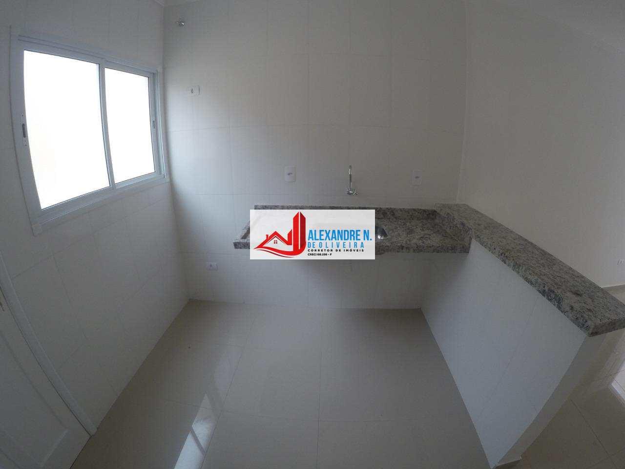 Sobrado novo, 2 dorms, 2 wcs, Praia Grande, R$ 195 mil, SB00006