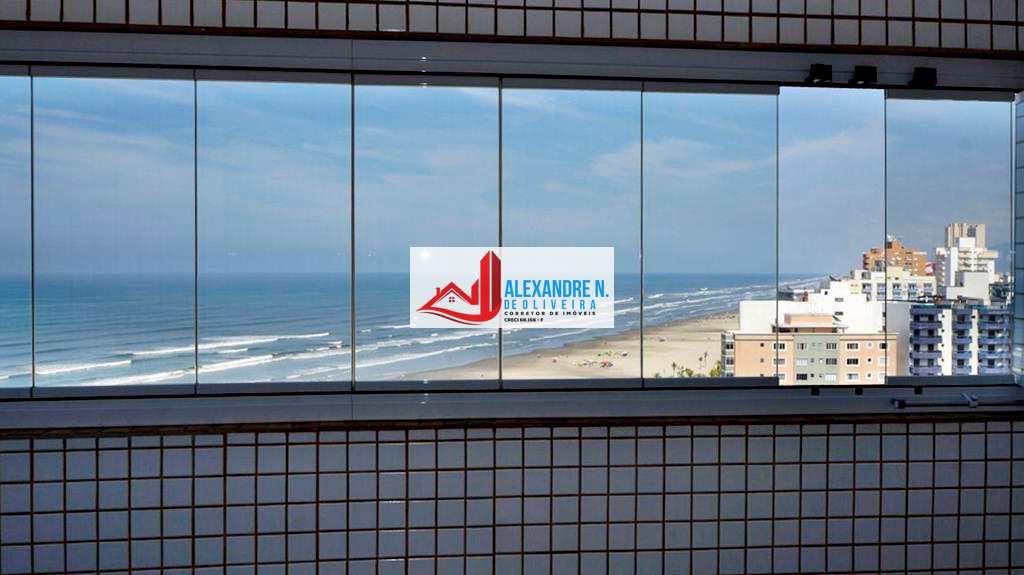 Vista mar, 2 dorms, Ocian, Praia Grande, R$ 290 mil, AP00046