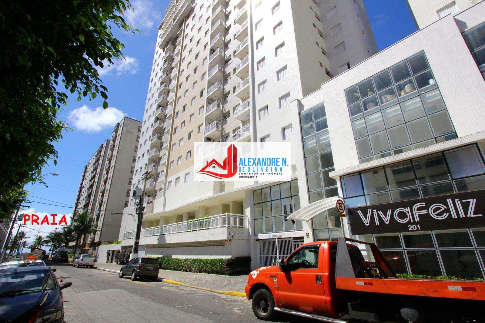 Vista-mar, 2 dorms, Ocian, Praia Grande, R$ 260 mil, AP00626