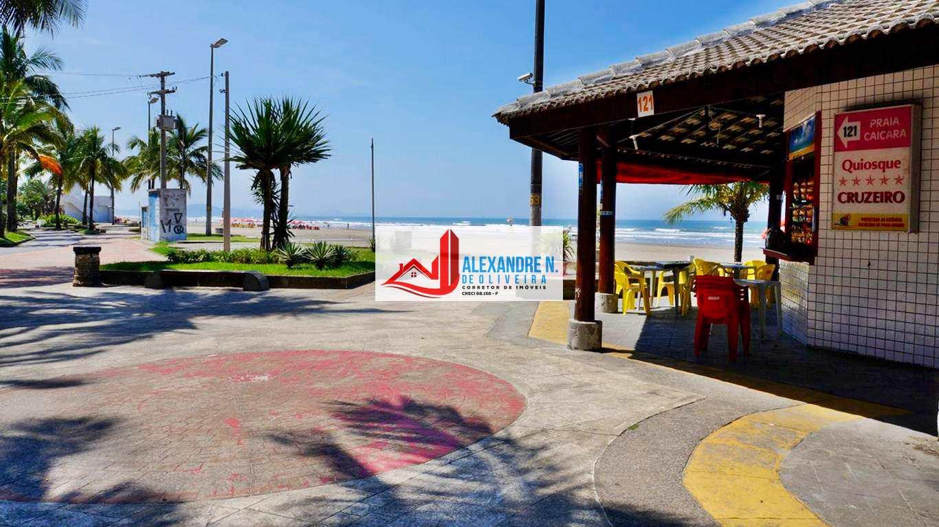 Frente mar, 2 dorms, Caiçara, Praia Grande, R$ 400 mil, AP00627