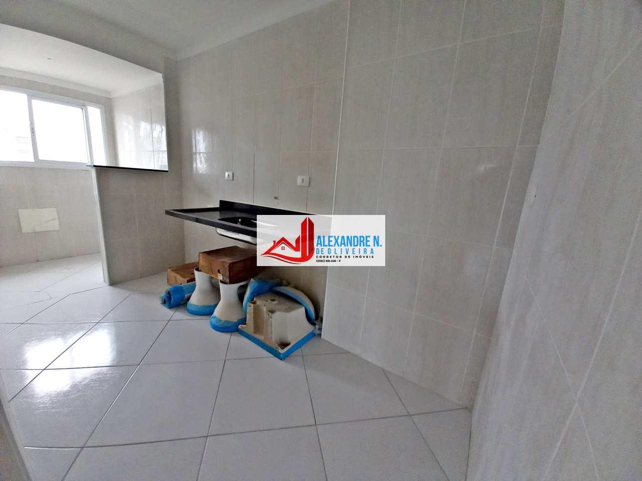 Vista mar 2 dorms, Ocian, Praia Grande, Entr. R$ 80 mil AP00648