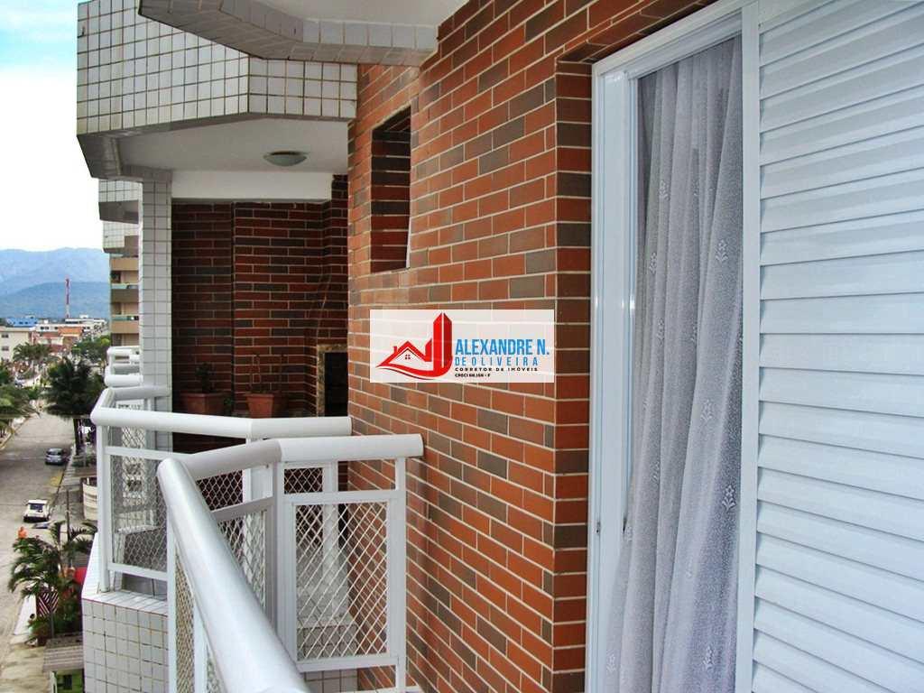 Vista mar, 3 dorms, Ocian, Praia Grande, R$ 370 mil, AP00653