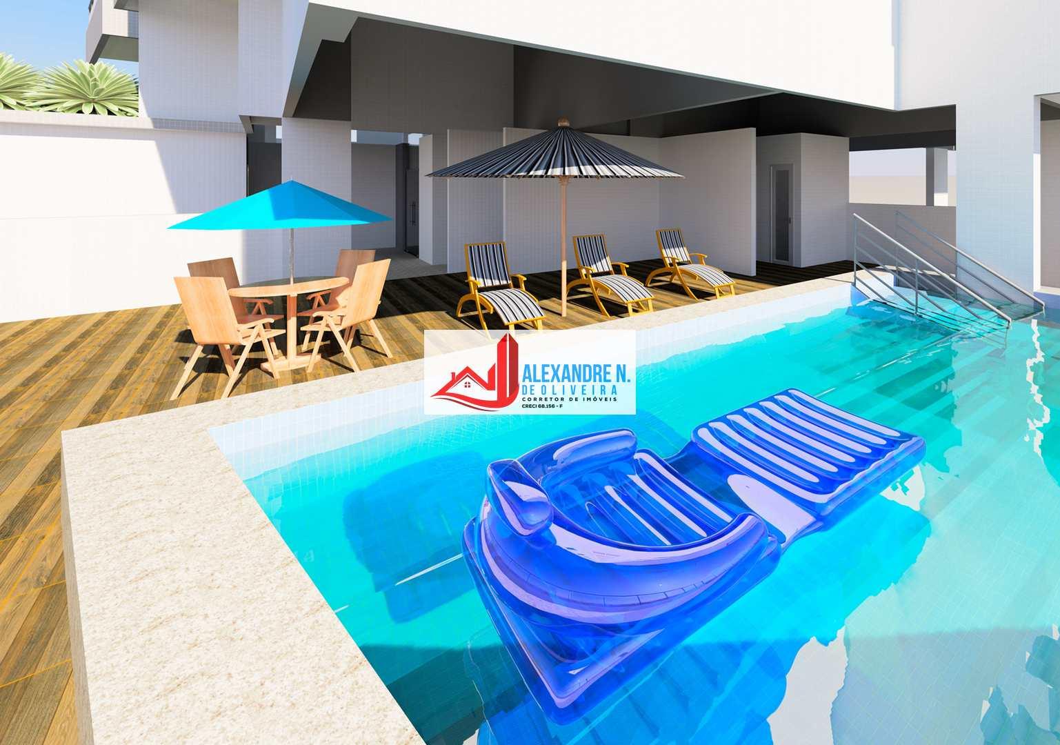 Vista-mar, 2 dorms, Praia Grande, Entr. 41 mil, AP00660