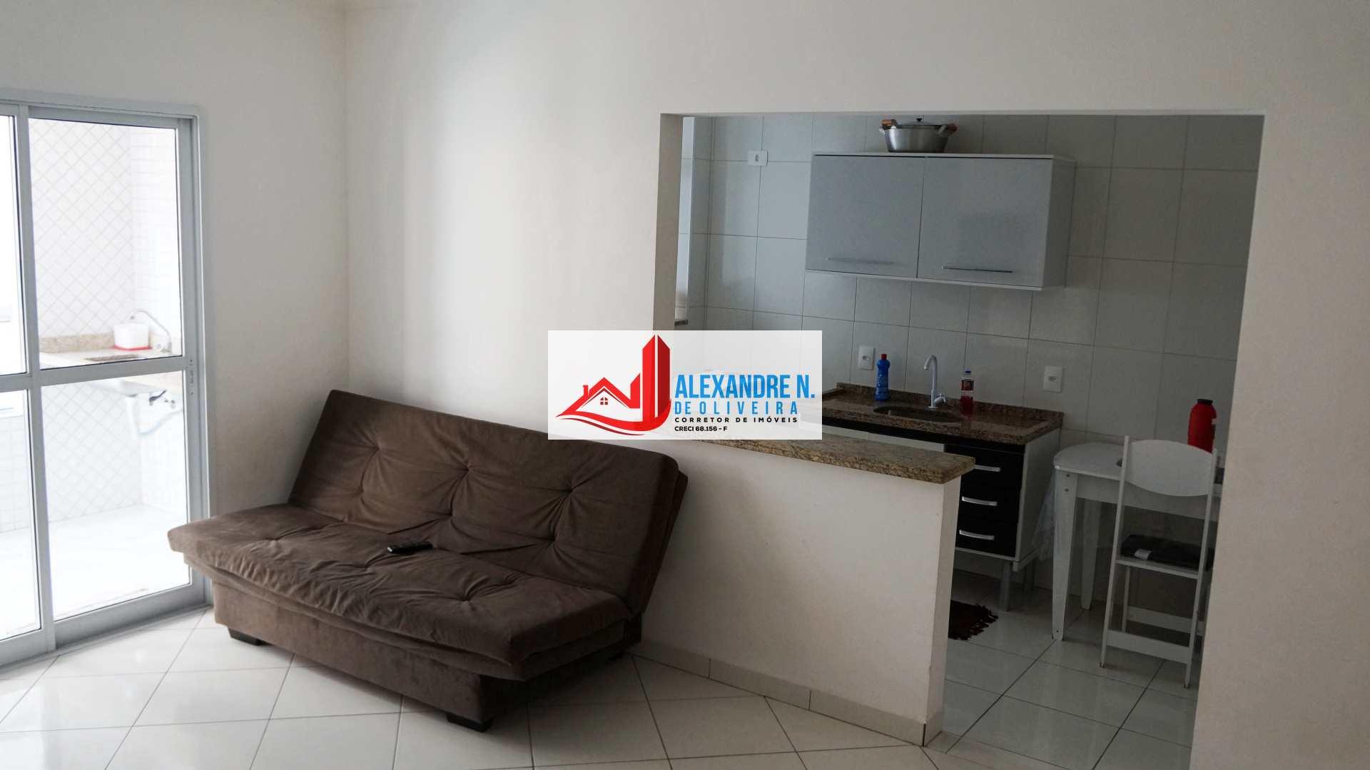 Apto 1 dorm, Aviação, Praia Grande, Entr. R$ 130 mil, AP00669