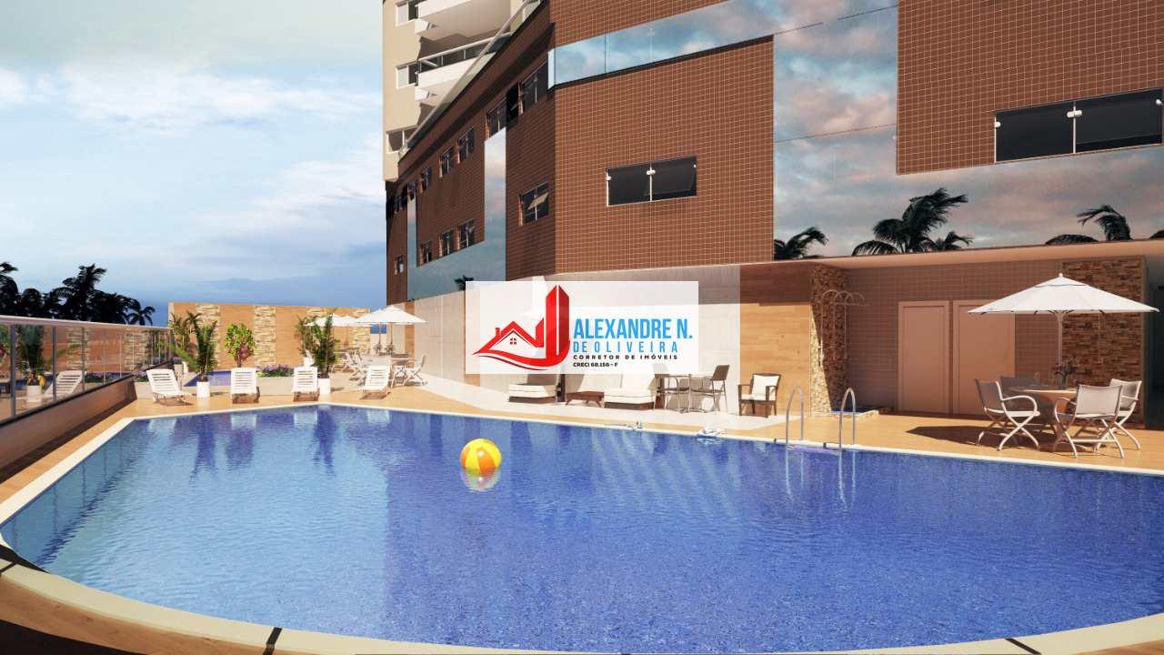 Frente-mar, 2 dorms, Maracanã, Praia Grande, R$ 46 mil, AP00674