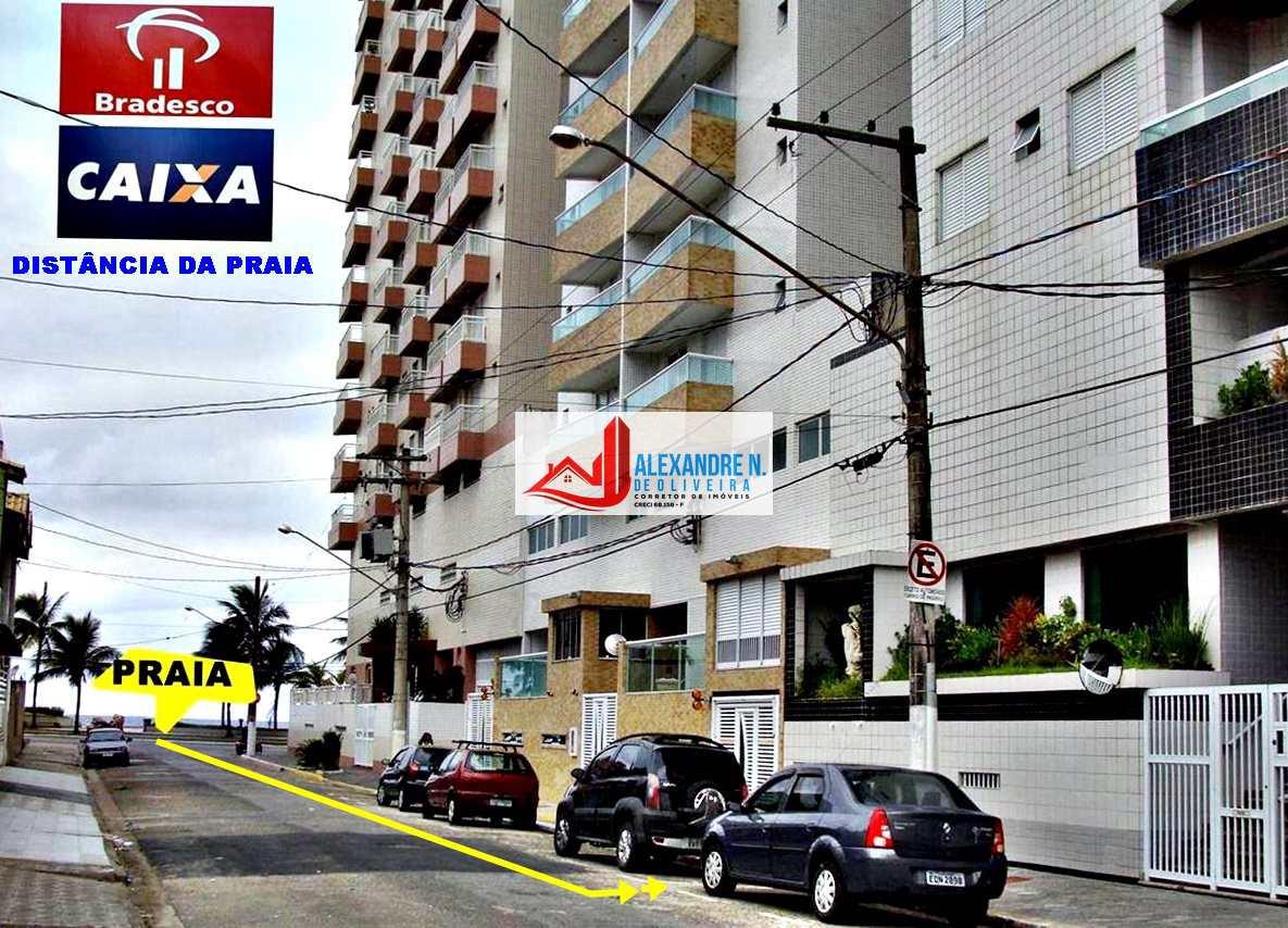 Vista-mar, 2 dorms, Ocian, Praia Grande, R$ 280 mil, AP00687