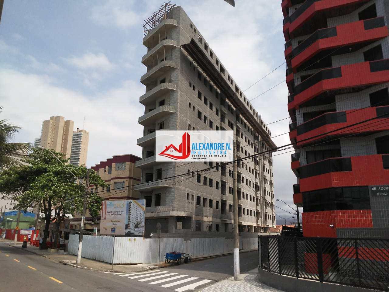 Frente-mar, 2 dorms, Mirim, Praia Grande - R$ 249 mil, AP00725