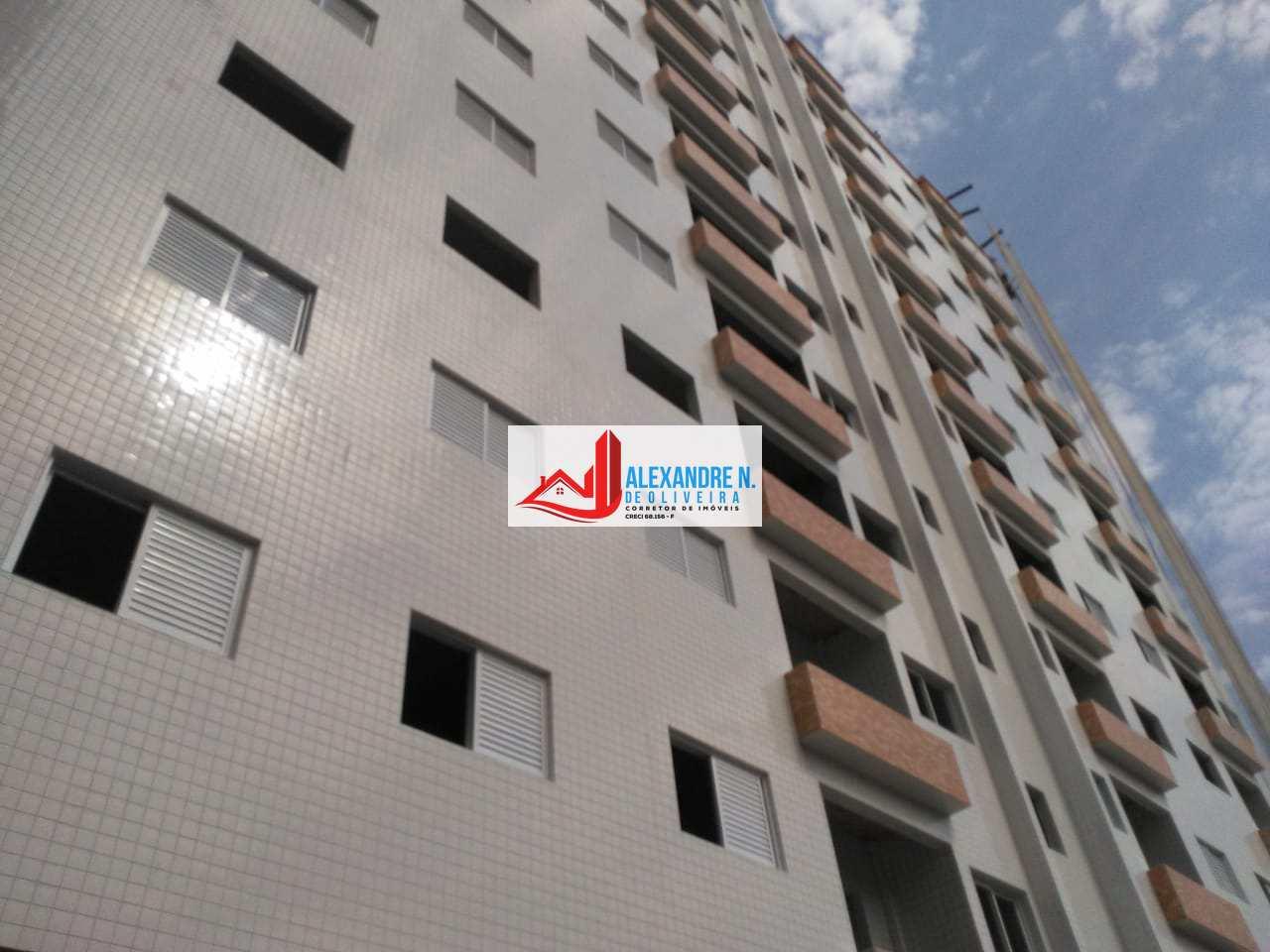 Frente mar, 2 dorms, Mirim, Praia Grande - R$ 255 mil, AP00725