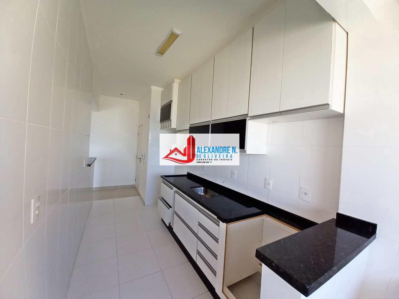 Vista-mar 3 dorms, Ocian, Praia Grande, R$ 445 mil, AP00739