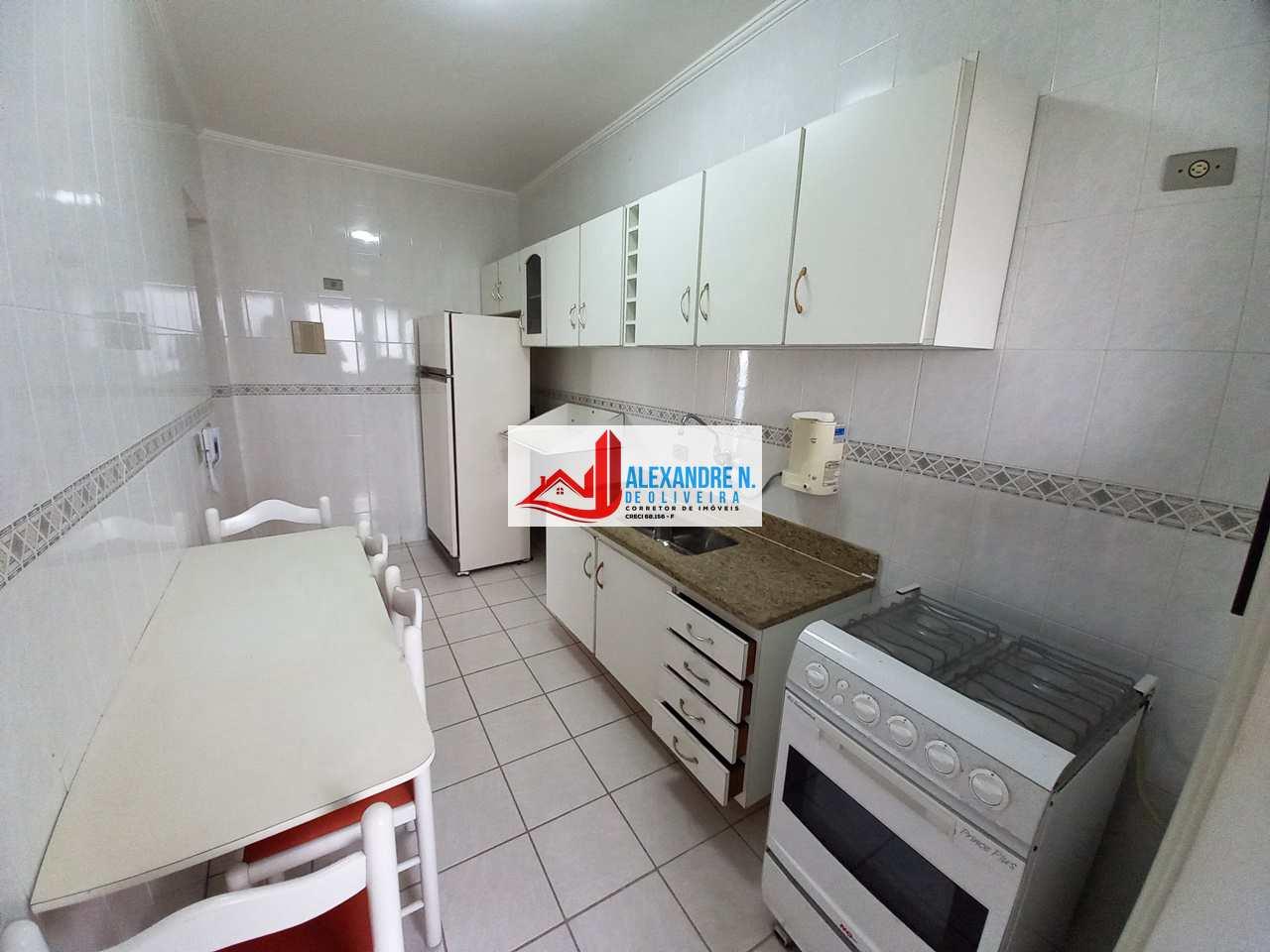 Frente mar, 2 dorms, Ocian, Praia Grande, R$ 350 mil, AP00741