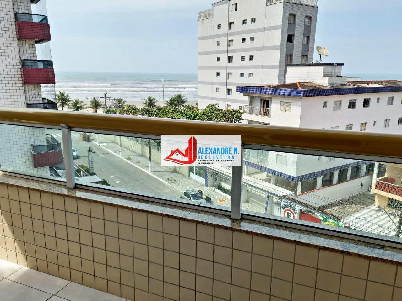 Vista mar, 1 dorm, Caiçara, Praia Grande, R$ 200 mil, AP00761