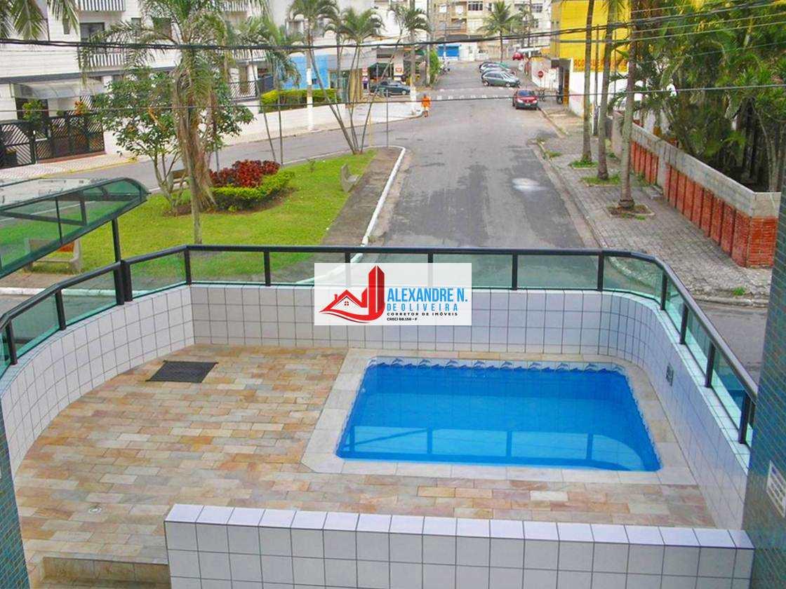 Vista-mar, 2 dorms, Ocian, Praia Grande, R$ 235 mil, AP00766