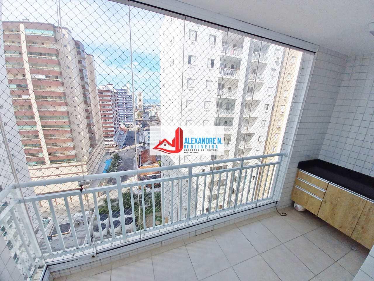 Vista mar, 3 dorms, Ocian, Praia Grande - R$ 350 mil, AP00777