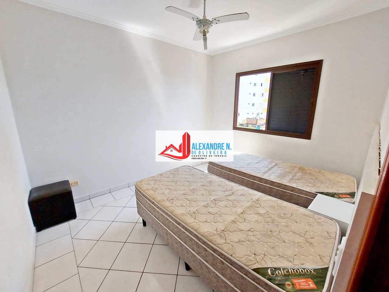 Frente mar, 2 dorms, Mirim, Praia Grande, R$ 350 mil, AP00787
