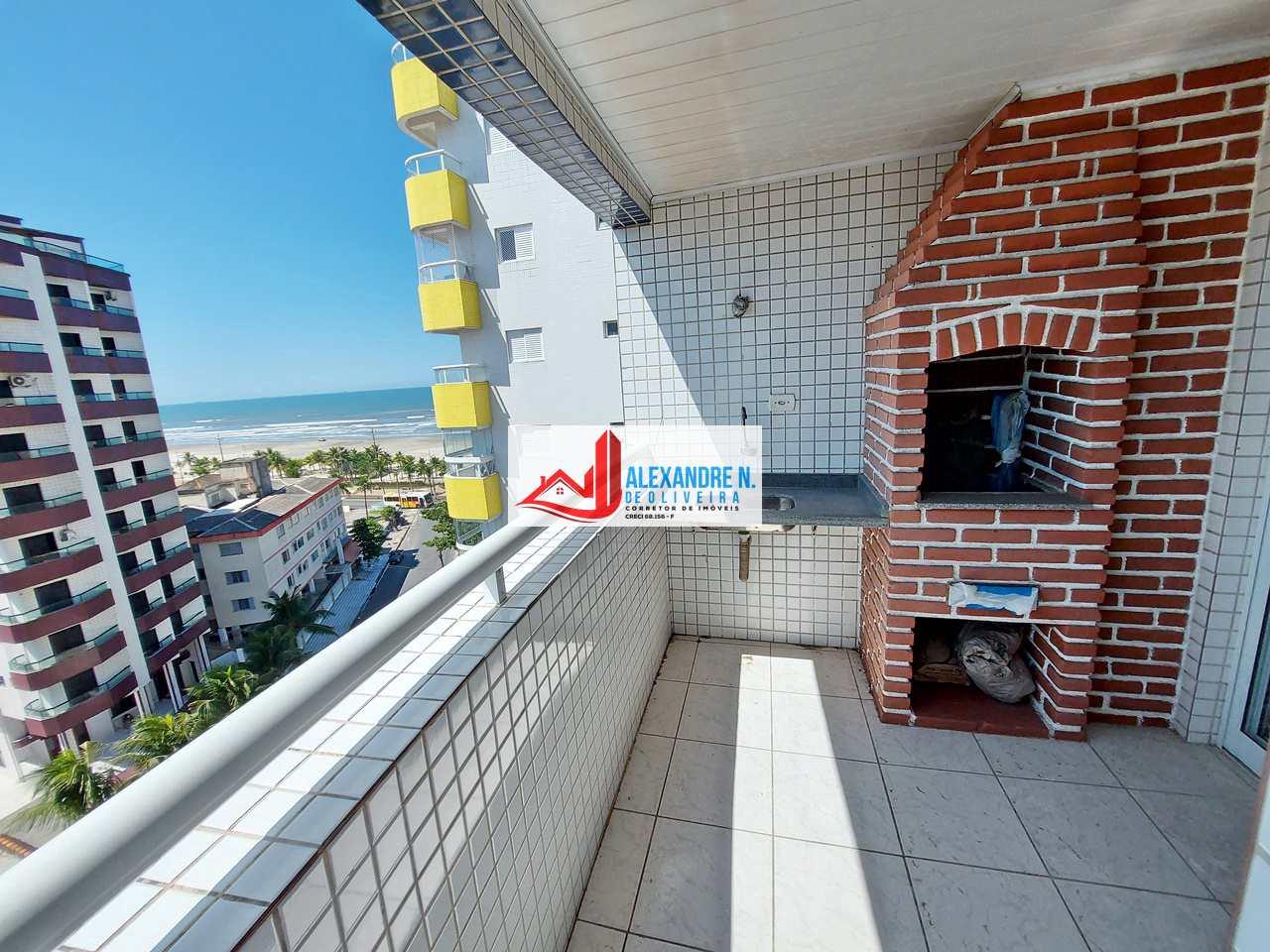 Vista mar, 2 dorms, Mirim, Praia Grande - R$ 280 mil, AP00794