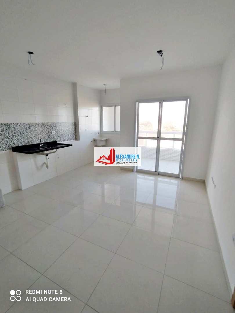 Vista mar, 1 dorm, Caiçara, Praia Grande - R$ 220 mil, AP00795
