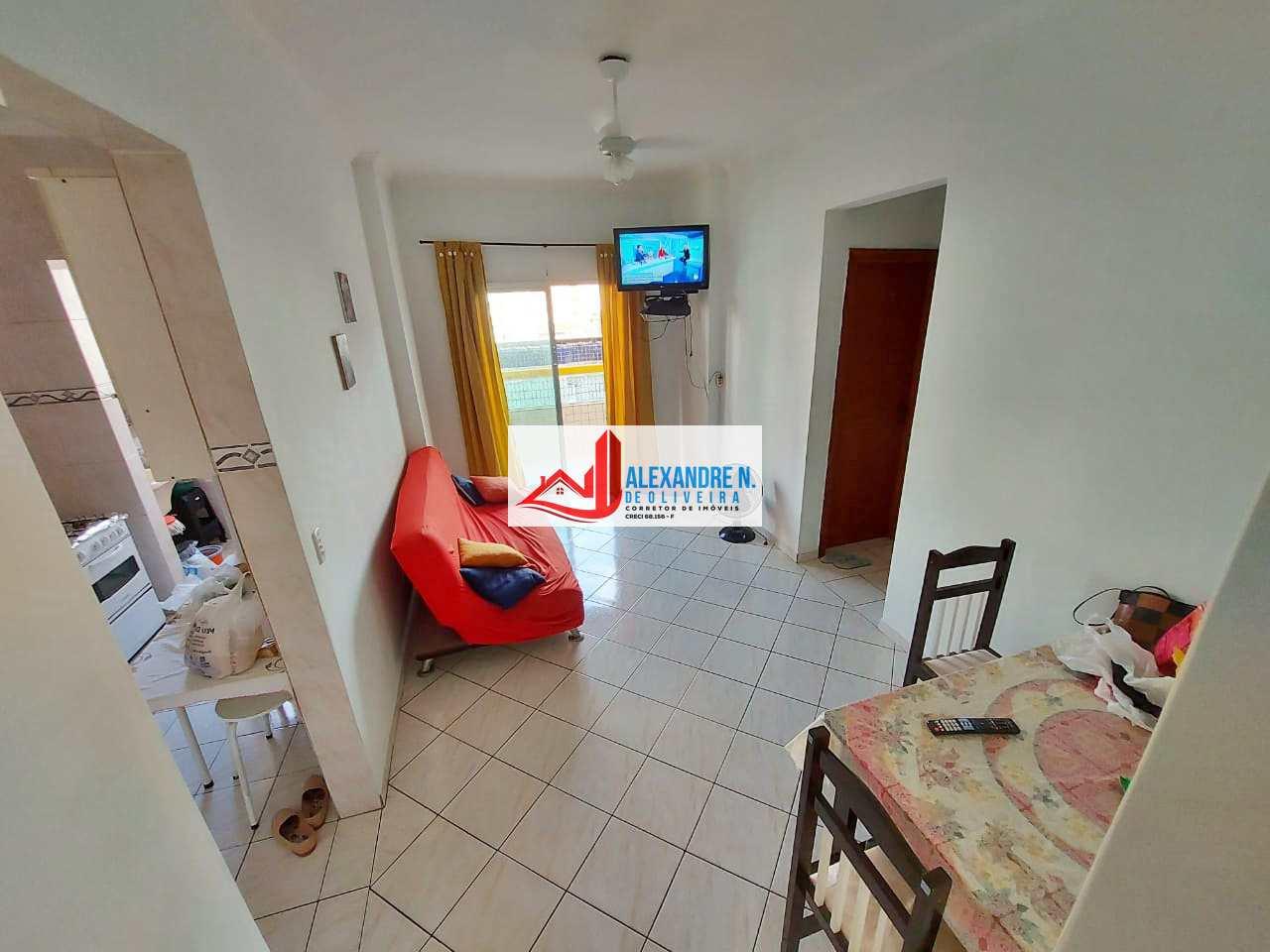 Apartamento 1 dorm, Ocian, Praia Grande - R$ 185 mil, AP00796