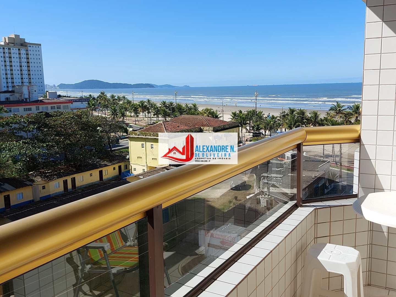 Vista mar, 2 dorms, Mirim, Praia Grande - R$ 260 mil, AP00813