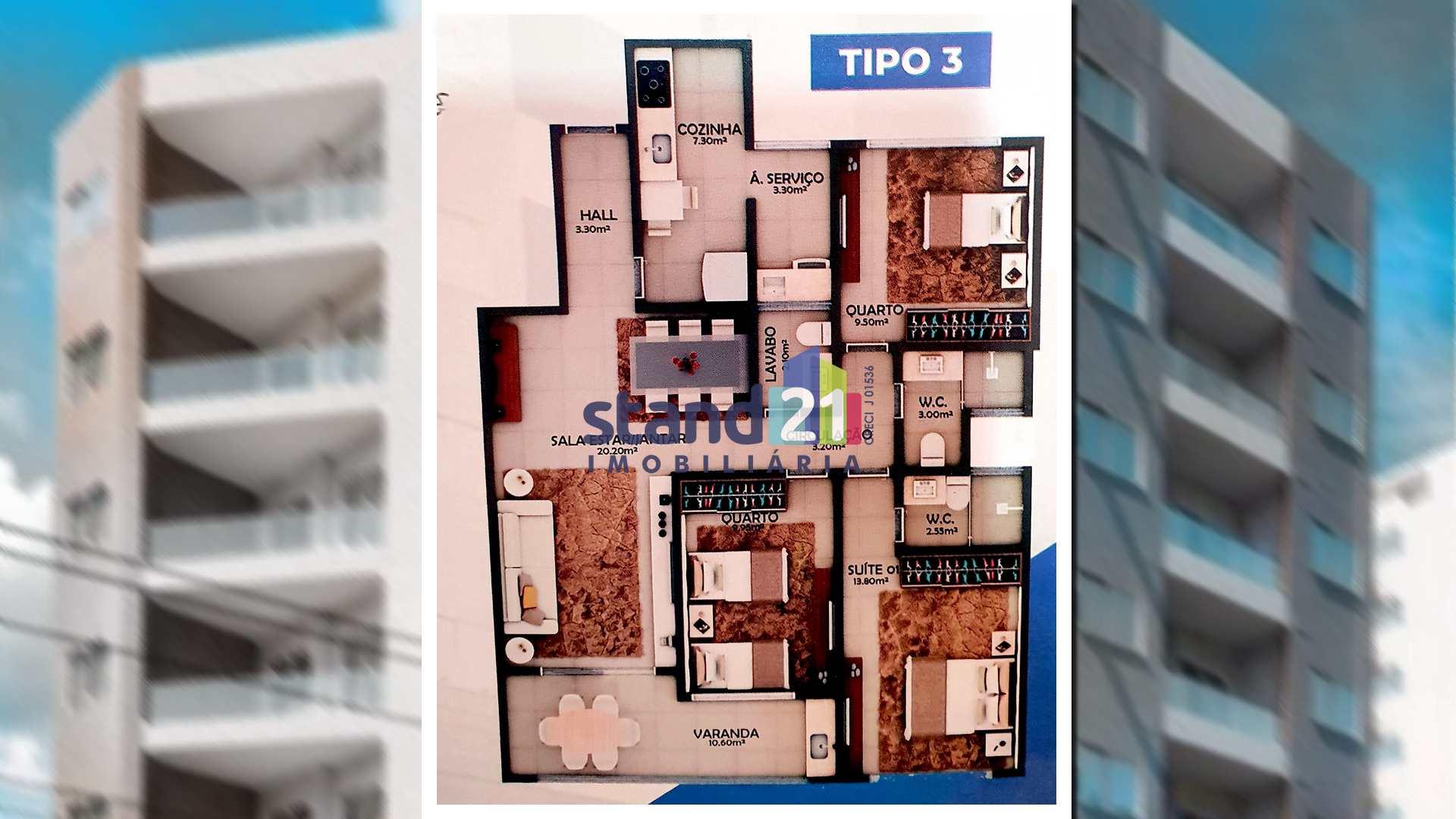 Apartamento com 3 dorms, Centro, Itabuna - R$ 363 mil, Cod: 758