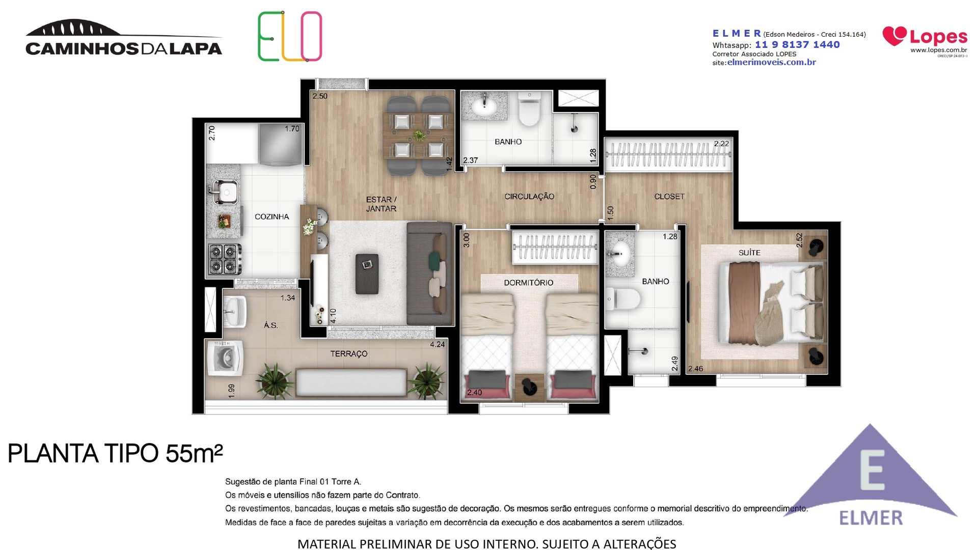 ELO - Planta 55 m²- Elmer