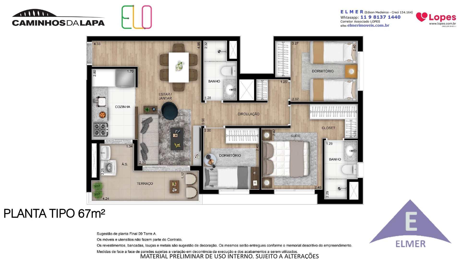 ELO - Planta 67 m² - Elmer