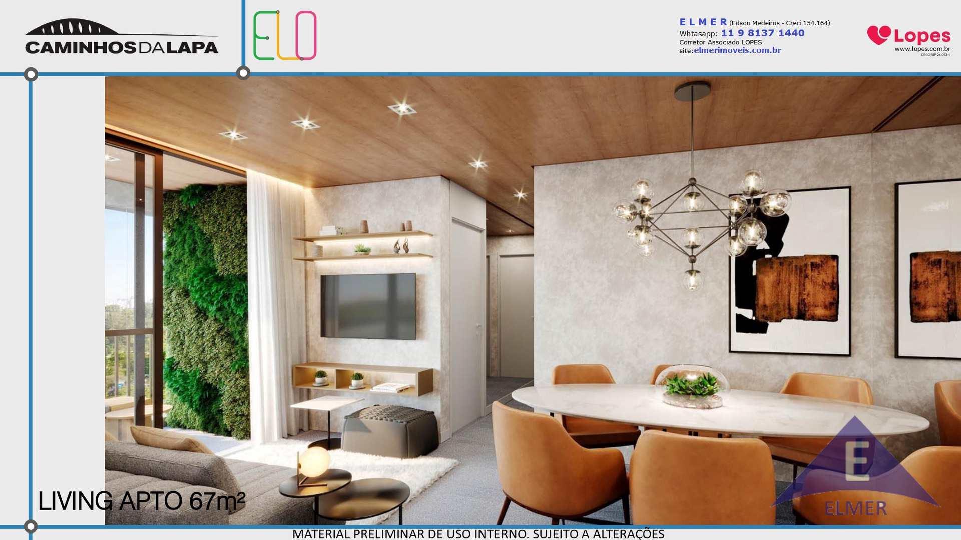 ELO - Living Apto 67 m² - Elmer